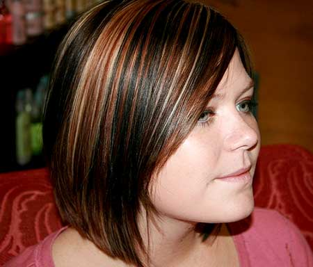 Red-Brown-and-Blonde-Highlights-for-Short-Hair Short Hair Colors Ideas 2020