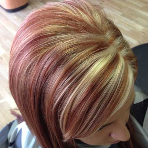 Red-Copper-Base-Hair-Color-Style Short Hairstyle Color Ideas