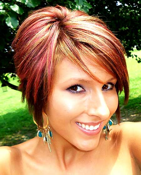 Red-Hair-Color-Idea-for-Girls Short Hair Colors Ideas 2020