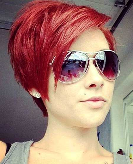 Red-Hair-Color-Idea-for-Women Short Hair Colors Ideas 2020
