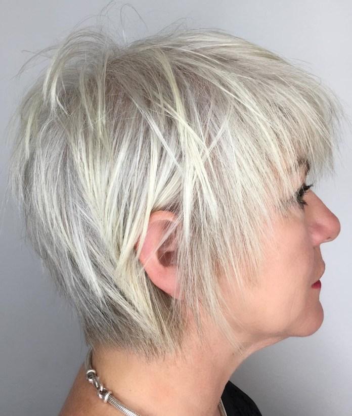 Shattered-Fleece Glamorous Grey Hairstyles for Older Women