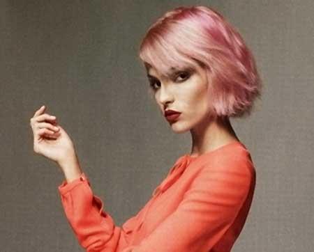 Shiny-Baby-Pink-Hair-Color-Idea Short Hair Colors Ideas 2020