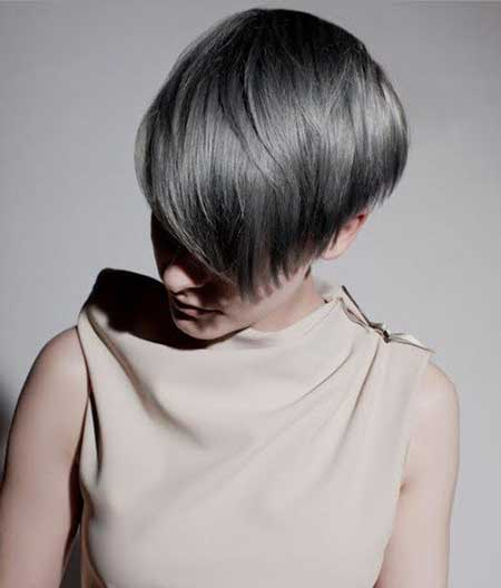 Short-Ash-Grey-Bob Short hair color ideas