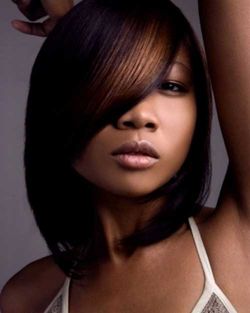Short-Black-Bob-Hairstyle-with-Highlights Black Girl Bob Hairstyles