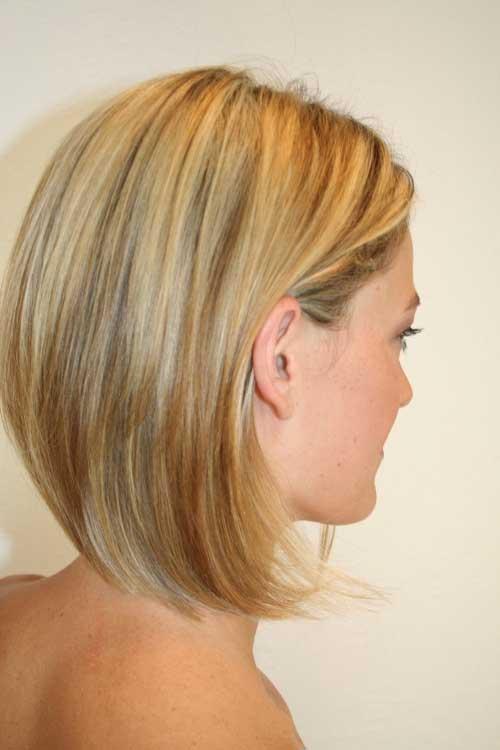Short-Blonde-Straight-Bob-Haircut Short Trendy Hairstyles 2020
