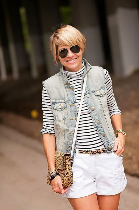 Short-Bob-Trim-with-Side-Swept-Bangs Short Bob Hairstyles for Ladies
