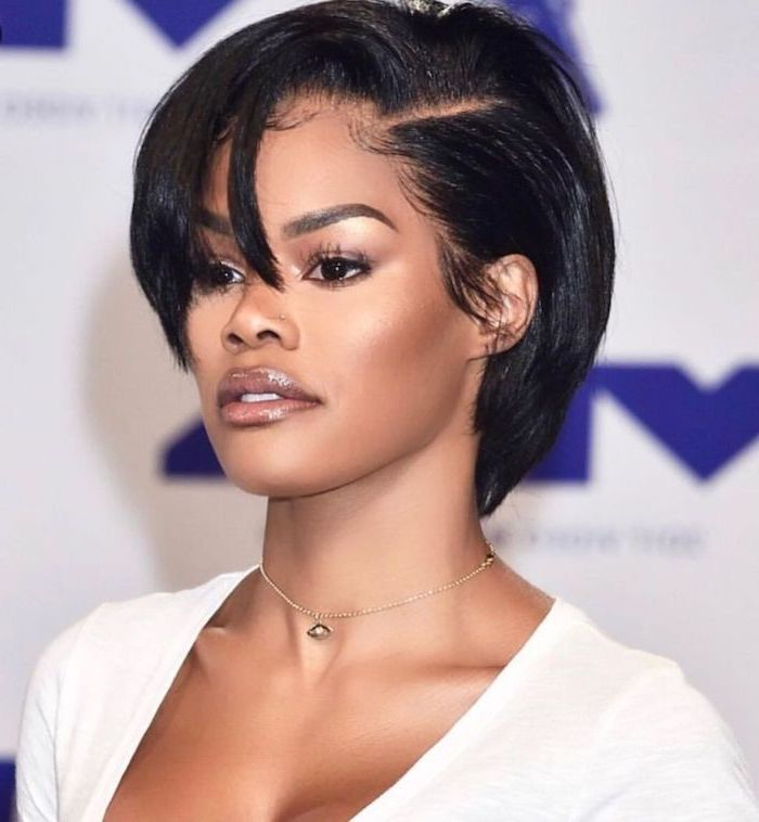 Short-Bob-with-Fringe Bob Hairstyles for Black Women for Rocking Look