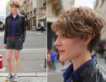 Short-Boyish-and-Curly-Hairstyle-1 Short Curly Women's Hairstyles