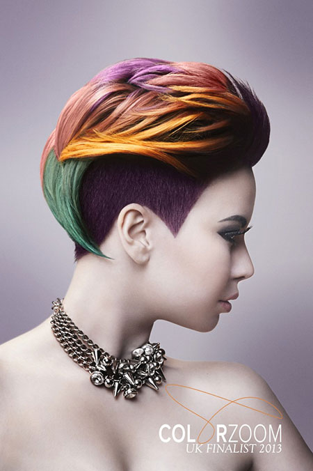 Short-Gorgeous-Colorful-Hair Short hair color ideas