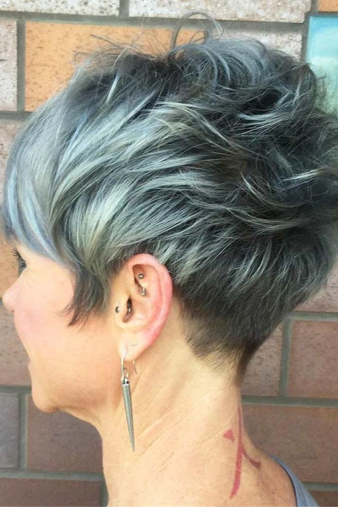 Short-Pixie-with-Side-Bangs Easy Hairstyles for Women Over 50