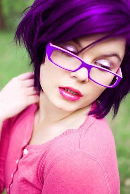 Short-Purple-Hair-Color-Idea Short Hair Colors 2020