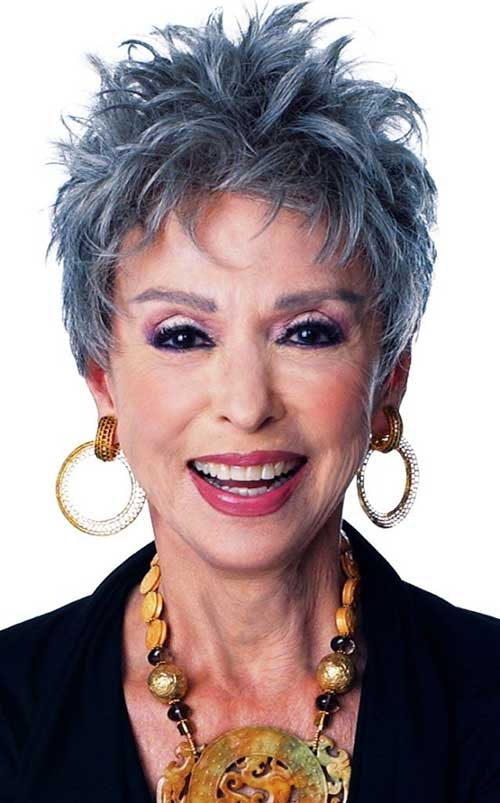 Short-Spiky-and-Edgy-Hairstyle-for-Older-Women Short Hairstyles for Older Women