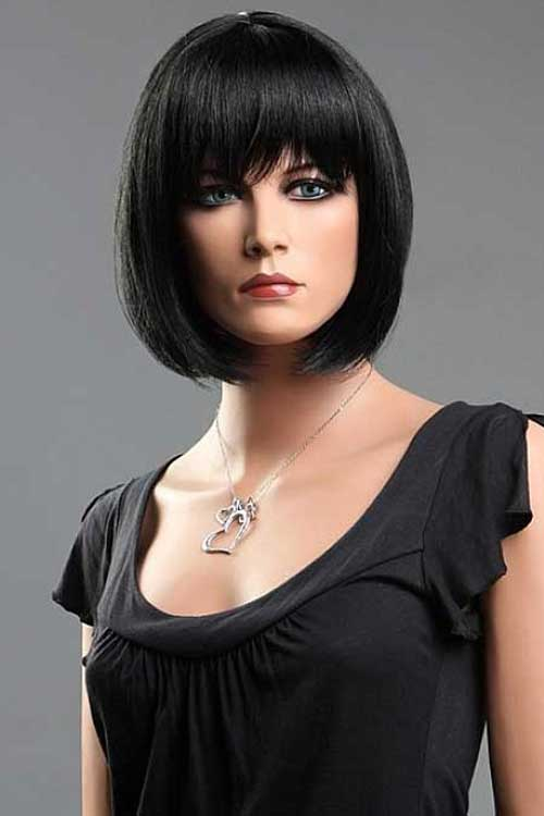 Short-jet-black-hair Best Hair Color for Short Hair