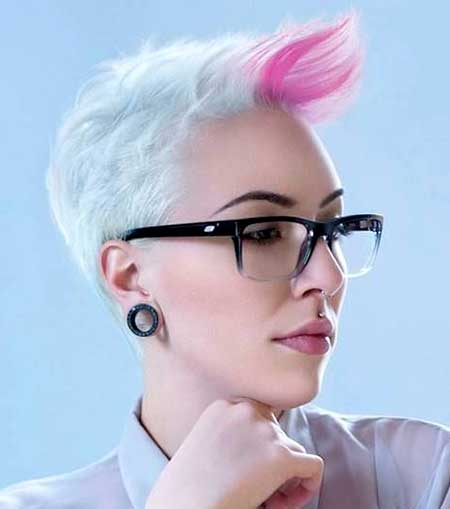 Sky-Blue-Colored-Hair-with-Pink-Highlight Short Hair Colors Ideas 2020
