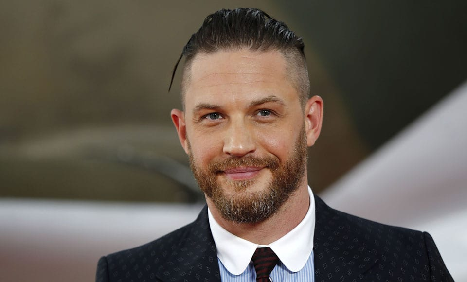 Slicked-Back-Pomp-Mid-Fade-Beard Mens Hairstyles with Thin Hair for Ultra Stylish Look
