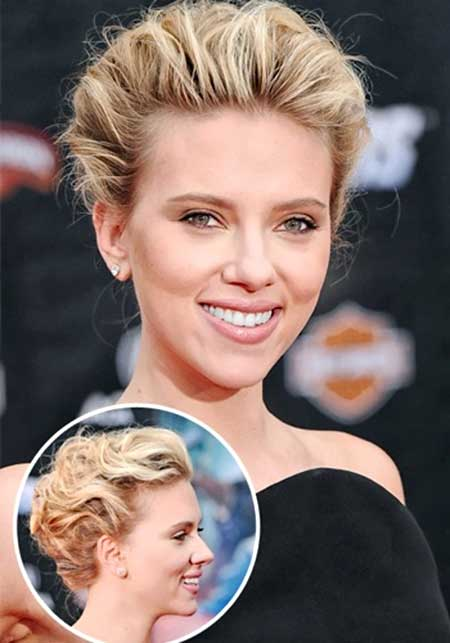 Soft-Wavy-Hair-for-Charming-and-Elegant-Updo Wedding Hairstyles for Short Hair