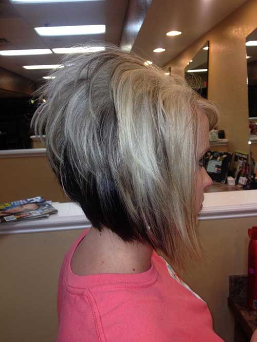 Stacked-Hair-Style Short Hairstyle Color Ideas