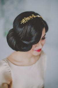 The-Big-Low-Roll-Gold 15 Stunning Bridal Hairstyles
