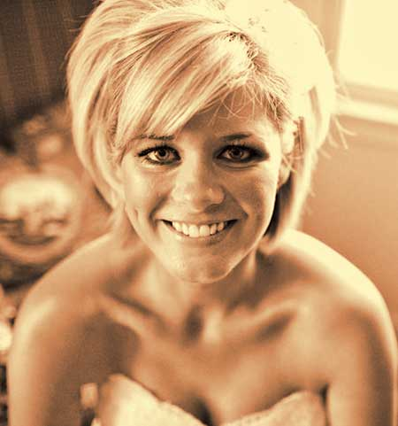 The-Fabulous-Golden-Blonde-Bob-Wedding-Hairstyle Wedding Hairstyles for Short Hair