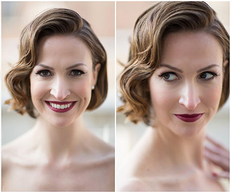 The-Fascinating-and-Tantalizing-Wavy-Bob-Hair-for-Your-Wedding Wedding Hairstyles for Short Hair