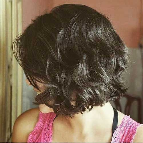 Thick-Dark-Brown-Hair Lastest Hairstyles For Short Wavy Hair