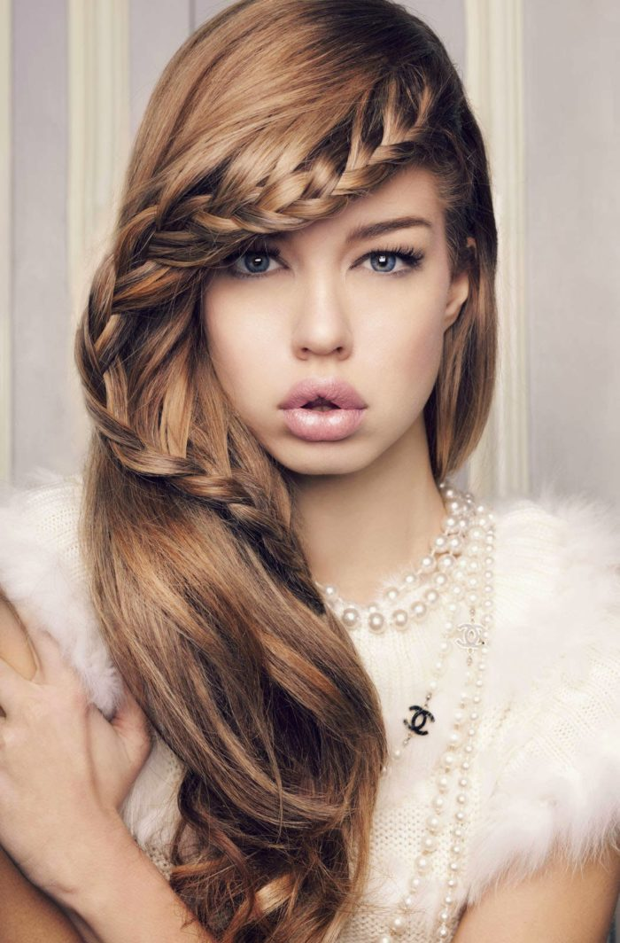 Twisted-Front-French-Braid Hippie Hairstyles for a Stylish and Reviving Look