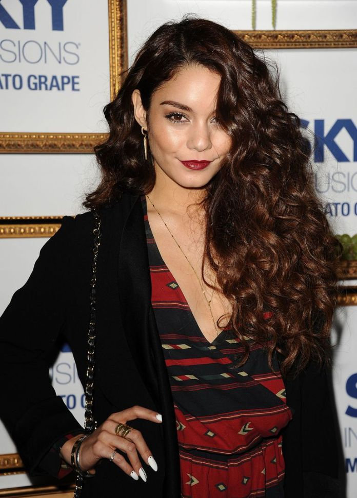 Vanessa-Hudgens-Peek-a-Bangs Stunning Curly Hairstyles That Are All About That Texture