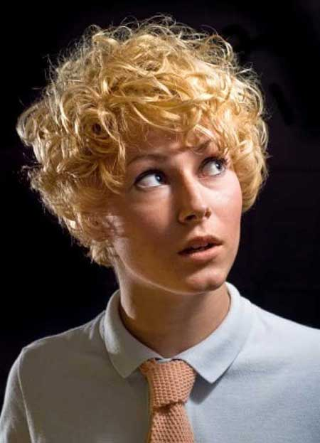 Very-Short-Curly-Haircut Short Curly Women's Hairstyles
