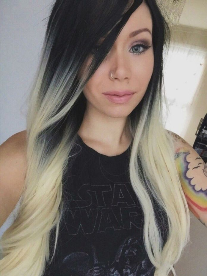 White-Highlighted-Long-Hair Most Beautiful Black Hairstyles with Highlights
