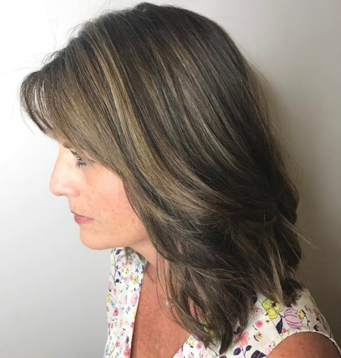 Work-Ready-Shoulder-Length-Style Gorgeous Hairstyles and Haircuts for Women Over 40
