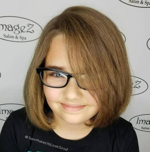 A-line-Brown-Bob 14 Cute Haircuts for Teenager Girls to Put You on Center Stage