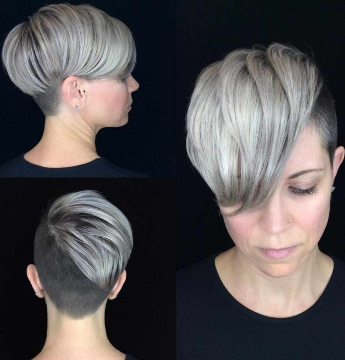 Asymmetrical-One-Sided-A-Line-Haircut- Roaring and Attractive Short Hairstyles 2020