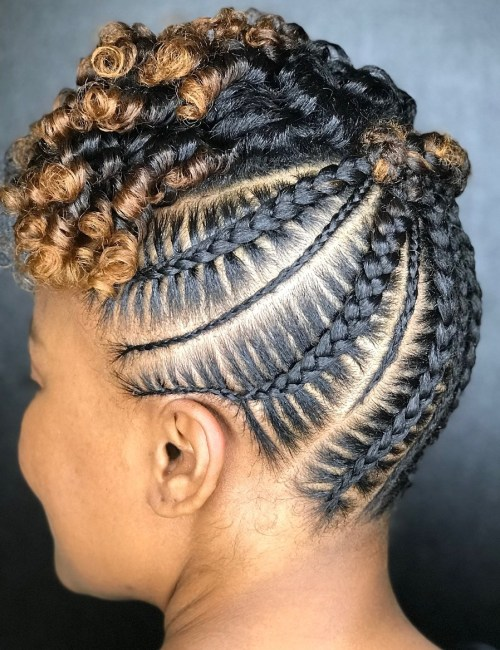 Beautiful-Stitch-Braid-Updo 10 Stunning Cornrow Hairstyles to Inspire Your Next Look