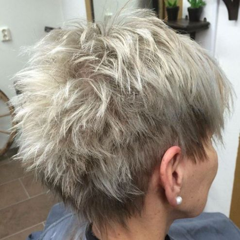 Blonde-into-Gray 14 Stylish Gray Hair Styles for older women