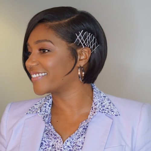 Bob-with-side-apart 10 stunning short bob haircuts for black women