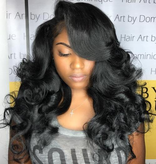 Bouncy-Curls-for-Black-Hair 10 stunning long Hairstyles for Black Women
