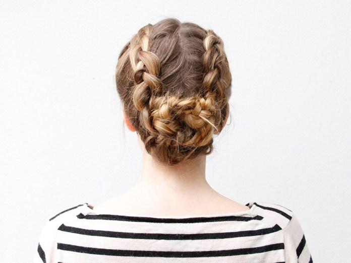 Castle-Braid-Bun-Hairstyle Glamorous Dutch Braid Hairstyles to Try Now