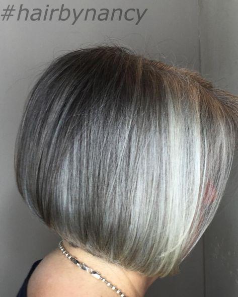 Classic-Bob 14 Stylish Gray Hair Styles for older women