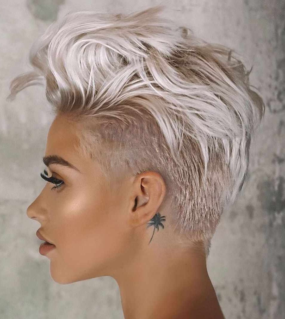 Curly-Bangs-Mohawk-Haircut Roaring and Attractive Short Hairstyles 2020