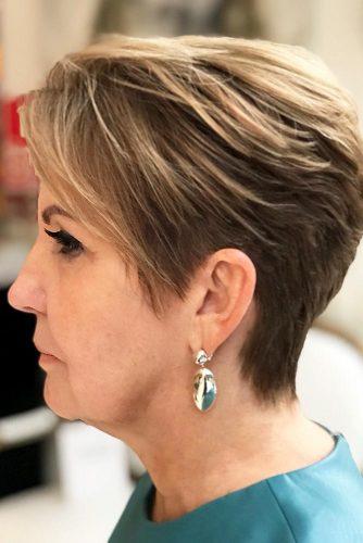 Dark-Blonde-Pixie-Cut Elegant Pixie Hairstyles For Women over 50