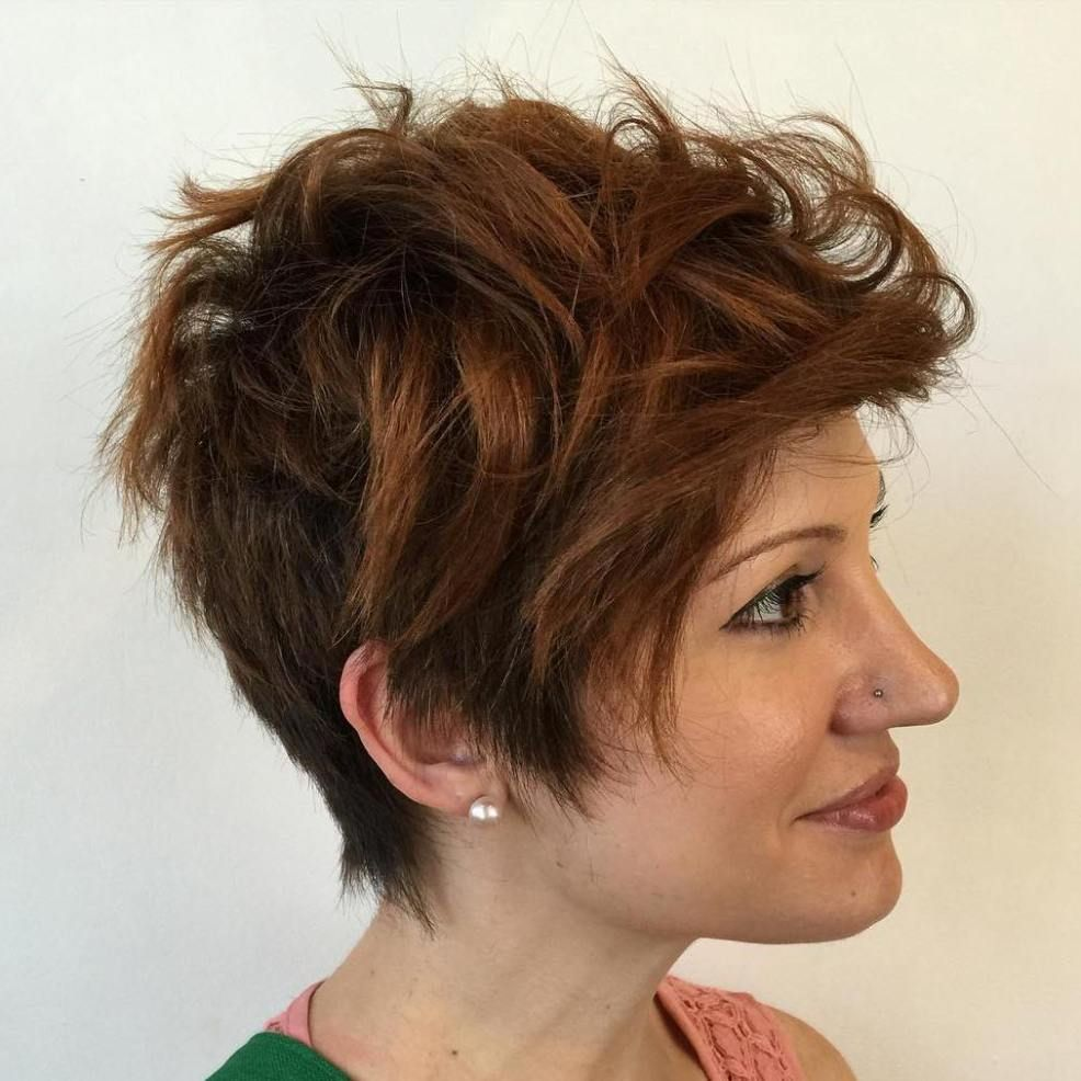 Decreased-Pixie Undoubtedly Coolest Pixie Cuts for Wavy Hair
