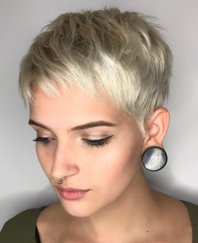 Effortless-Pixie-Cut-with-Short-Bangs. 15 flattering short hairstyles for thin hair