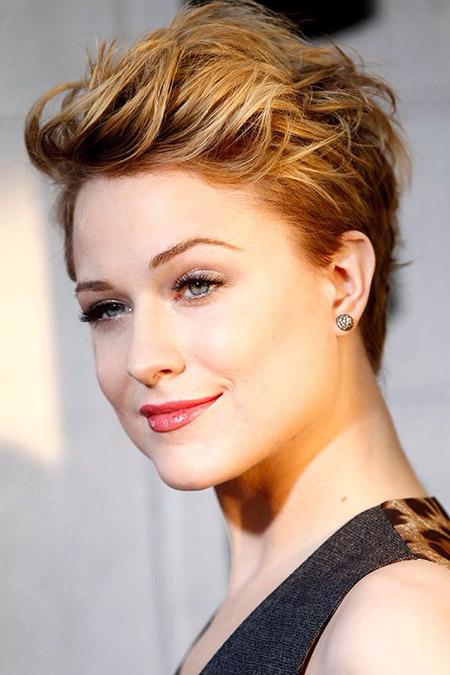 Evan-Rachel-Wood's-Wavy-Pixie-Cut Celebrity Short Hairstyles for Women