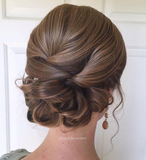 Formal-Sleek-Looped-Updo 12 Stunning Updos For Medium Length Hair