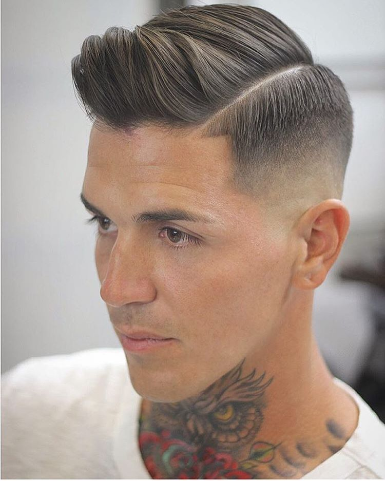 Front-Long-Swirls-with-Faded-Disconnected-Undercut Most Stylish Hairstyles with Disconnected Undercut