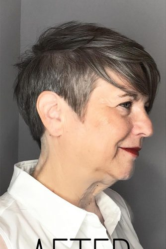 Grey-Pixie-Cut Elegant Pixie Hairstyles For Women over 50