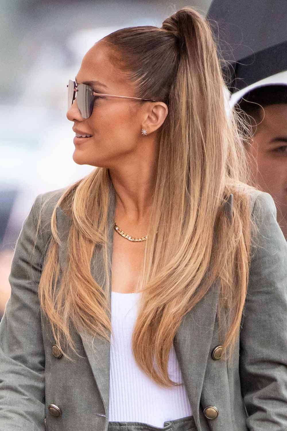 High-Ponytail Trendy and Stunning Long Hairstyles 2020