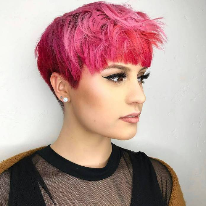 Highlighted-Pink-Pixie Glamorous Pixie Cut 2020 for Astonishing Look