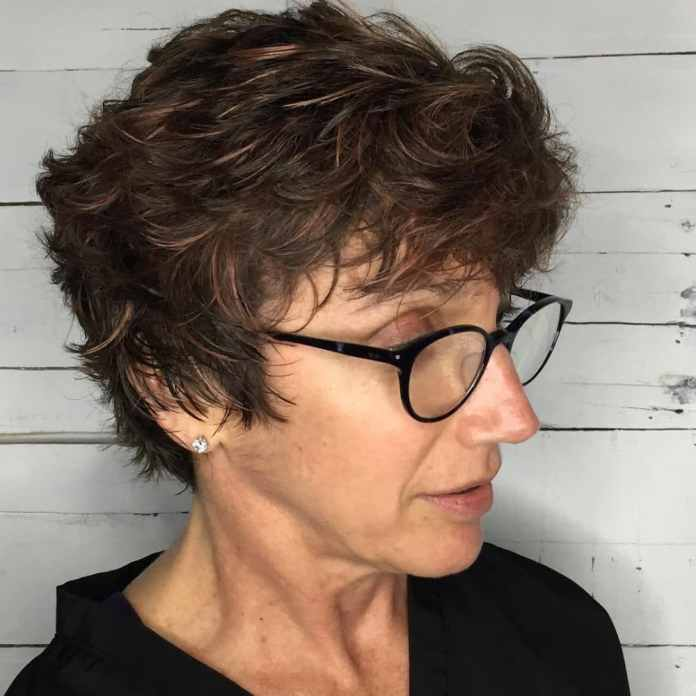 Layered-Pixie-with-Textured-Bangs Most Youthful Hairstyles for Older Women 2020
