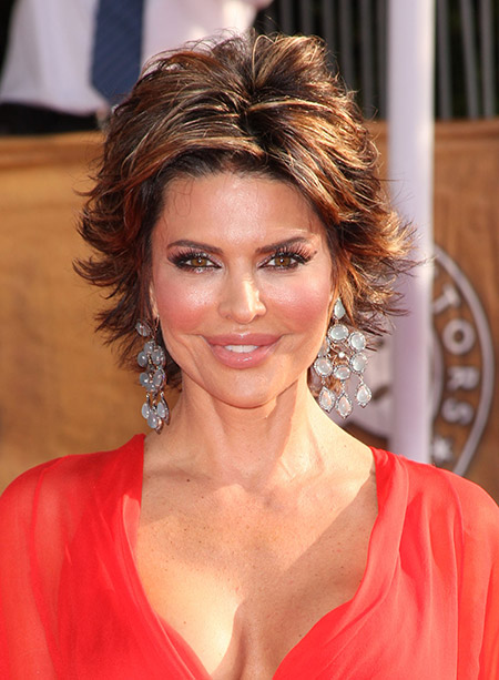 Lisa-Rinna's-Awesome-and-Fabulous-Flip-Out-Bob-Cut Celebrity Short Hairstyles for Women